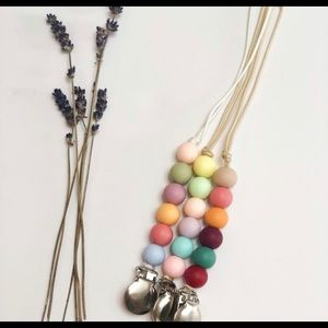 baby paci clip dummy clip teething beads